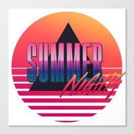 Summer Nights - Retrowave Canvas Print