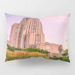Pittsburgh Cathedral Of Learning Flower Garden Pillow Sham