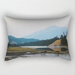 Dreamy Elk Sunset Rectangular Pillow