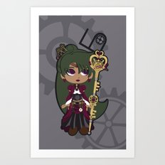 Steampunk Sailor Pluto - Sailor Moon Art Print