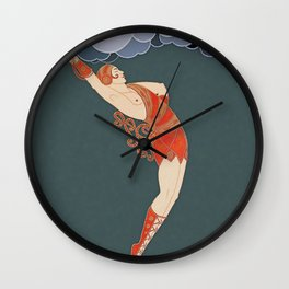 "Art Deco Illustration ""The Dancer"" by Erté Wall Clock"
