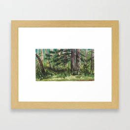 Small Forest - Watercolor Landscape Framed Art Print