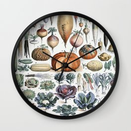 Root and leaft vegetables vintage Wall Clock