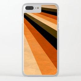 Autumn Stripes Clear iPhone Case