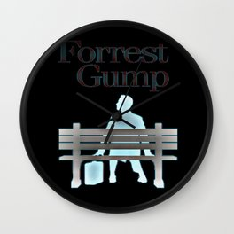 Forrest On The Bench Wall Clock