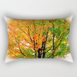Leaves Changing Colors Rectangular Pillow