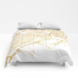 JERSEY CITY NEW JERSEY STREET MAP ART Comforters