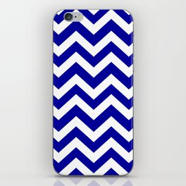 Duke blue - blue color - Zigzag Chevron Pattern iPhone Skin