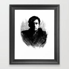 DARK COMEDIANS: Steve Carell Framed Art Print