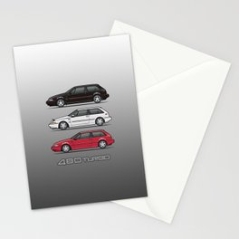 Stack of Volvo 480 Turbos Stationery Cards