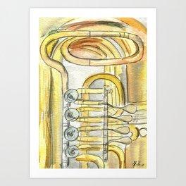 Tuba Tubs Art Print