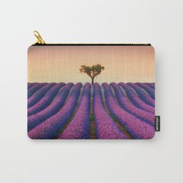 Lavender field and lonely tree. Provence. Carry-All Pouch