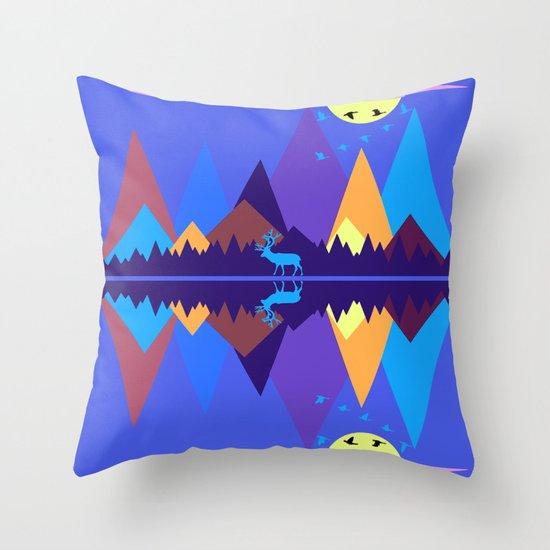 Mountain Scene #2 Throw Pillow