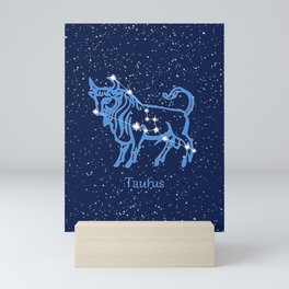 Taurus Constellation and Zodiac Sign with Stars Mini Art Print