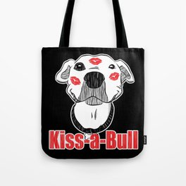 Pitbull Kiss-a-Bull (Kissable) Red Kisses Tote Bag