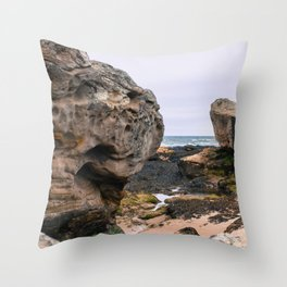 Stones on the Coast Throw Pillow