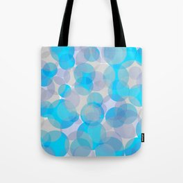 Blue circles pattern Tote Bag