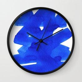 Superwatercolor Blue Wall Clock