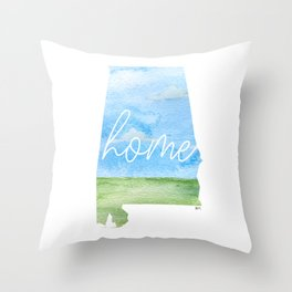 Alabama Home State Throw Pillow