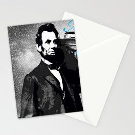 ABRAHAM LINCOLN MORE MUSIC LESS WAR Stationery Cards