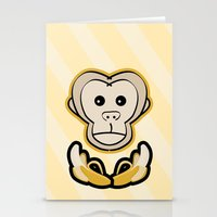 monkey island Stationery Cards featuring Monkey by Nir P