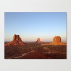 Monument Valley Landscape at Sunset Canvas Print