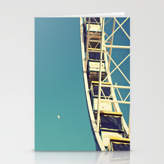 The sky, the moon and the Ferris Wheel Stationery Cards
