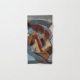Mundy abstract oil painting Hand & Bath Towel