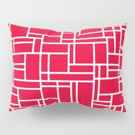 GRID w/red Pillow Sham