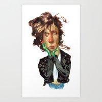 tim burton Art Prints featuring Tim Burton by RSAR