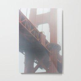 Golden Gate in Fog Metal Print