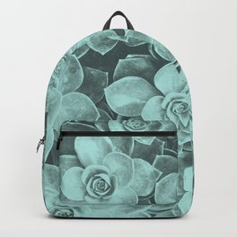 Pastel turquoise aloes Backpack