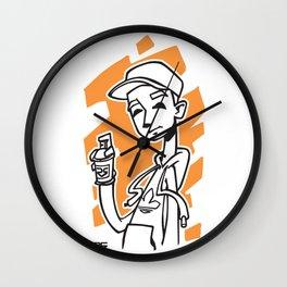 Graffiti Guy (alt) Wall Clock