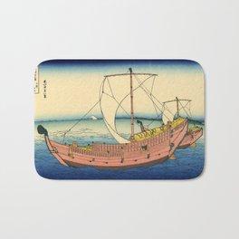 "Hokusai (1760–1849) ""The Kazusa Province sea route"" Bath Mat"