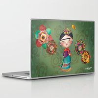 frida kahlo Laptop & iPad Skins featuring Frida Kahlo by Van Moreira