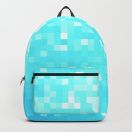 turquoise Pixel Sparkle Backpack