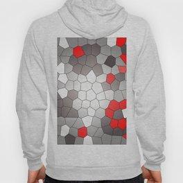 Mosaik grey white red Graphic Hoody