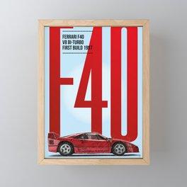 F40 Tribute Framed Mini Art Print