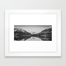 Lake Ohau Reflection Framed Art Print