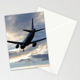 A320 Sunset Landing Stationery Cards