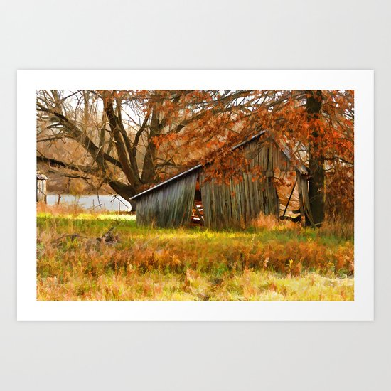 Country autumn colors Art Print