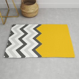 Color Blocked Chevron 17 Rug