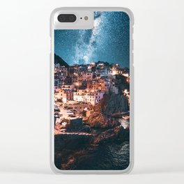 manarola at night Clear iPhone Case
