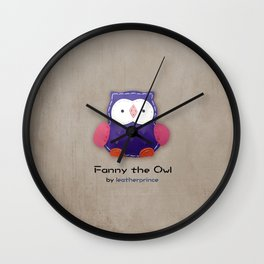 Fanny the owl by leatherprince Wall Clock
