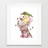 charlie Framed Art Prints featuring Charlie by Krister Selin