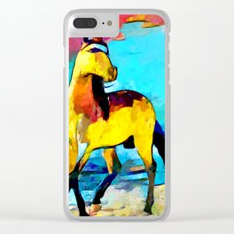 Horse 2 Clear iPhone Case