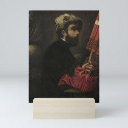 Tintoretto - Portrait of a Man as Saint George Mini Art Print