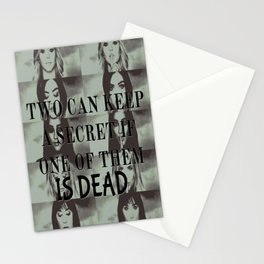 Two can't keep a secret Stationery Cards