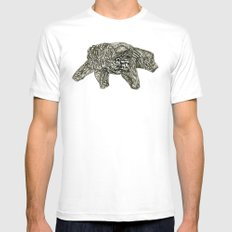 2012 a MEDIUM White Mens Fitted Tee
