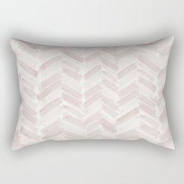 Neutral Blush Chevron Rectangular Pillow